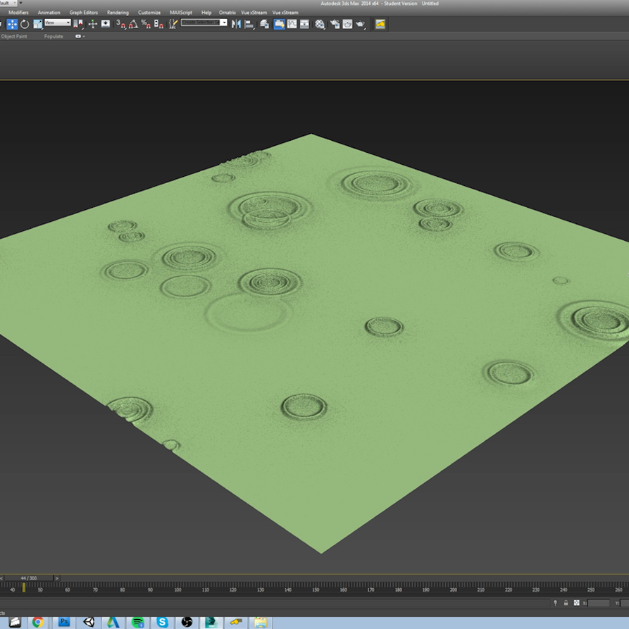 3ds max rain tutorial